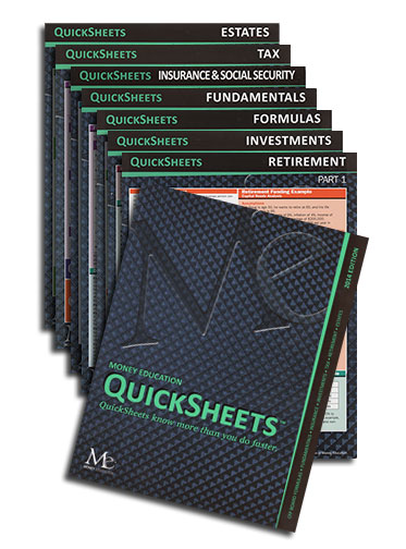 2019 QuickSheetsTM set