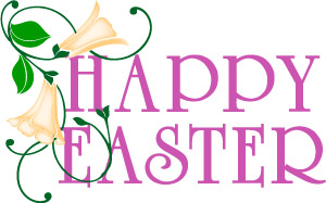 happy easter word art